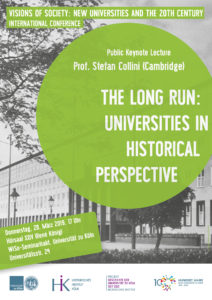 Visions of Society: New Universities and the 20th Century | Keynote lecture (Stefan Collini)